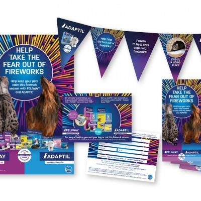 Nuevo soporte de marketing ADAPTIL y FELIWAY para fuegos artificiales y temporada de fiestas