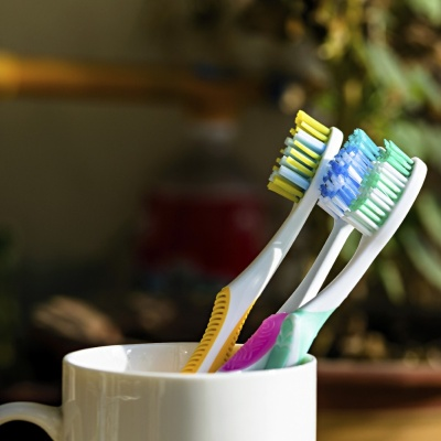 The Dental Health Foundation advises people to regularly disinfect their toothbrush